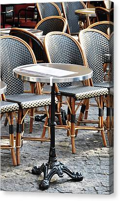 Parisian Cafe Terrace Canvas Print