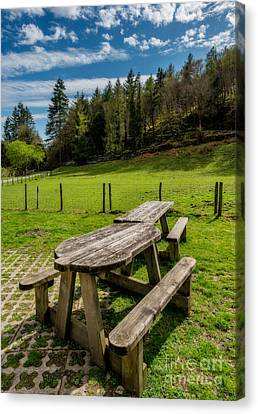 Park Bench Canvas Print by Adrian Evans