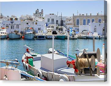 Paros - Cyclades - Greece Canvas Print by Joana Kruse