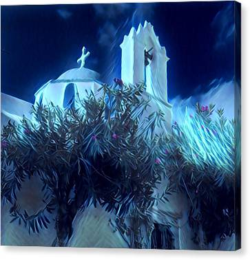 Canvas Print featuring the photograph Paros Island Beauty Greece  by Colette V Hera Guggenheim