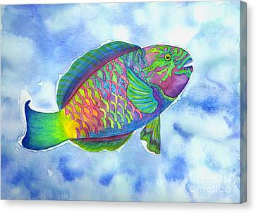 Parrotfish Canvas Print by Lucy Arnold
