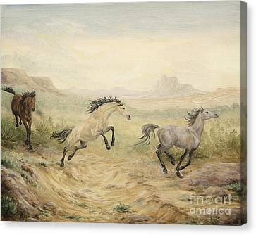 Passing Through Canvas Print by Cathy Cleveland
