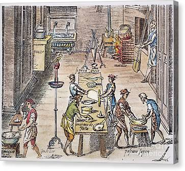 Pasta Making, 16th Century Canvas Print