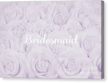 Maid Of Honor Canvas Print - Pastel Purple Bride by Lucid Mood