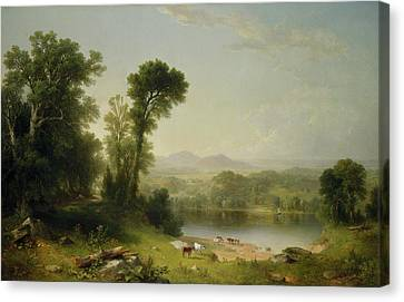 Pastoral Landscape Canvas Print by Asher Brown Durand