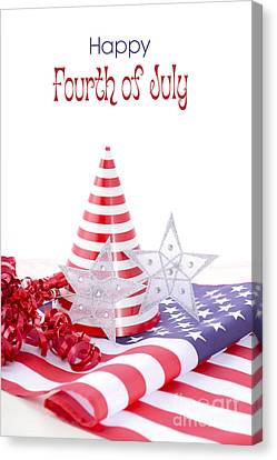 American Independance Canvas Print - Patriotic Party Decorations For Usa Events by Milleflore Images