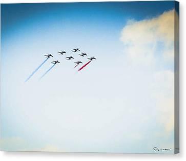 Patrouille De France Canvas Print by Ioopix Com