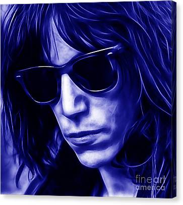 Patti Smith Collection Canvas Print by Marvin Blaine