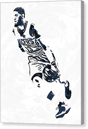 Indiana Canvas Print - Paul George Indiana Pacers Pixel Art 6 by Joe Hamilton