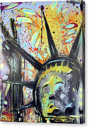Peace And Liberty Canvas Print by Robert Wolverton Jr