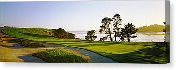 Pebble Beach Golf Course, Pebble Beach Canvas Print by Panoramic Images