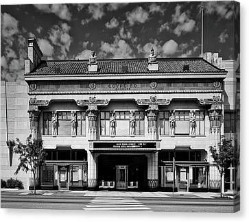 Peery's Egyptian Theatre - Ogden Utah Canvas Print by L O C