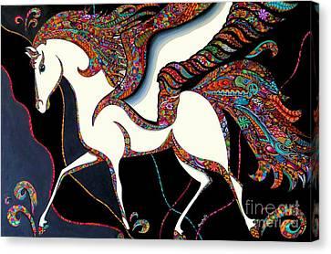 Pegasus Canvas Print by Rebeca Rambal