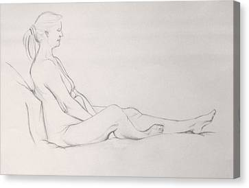 Pencil Sketch 11.2010 Canvas Print by Mira Cooke
