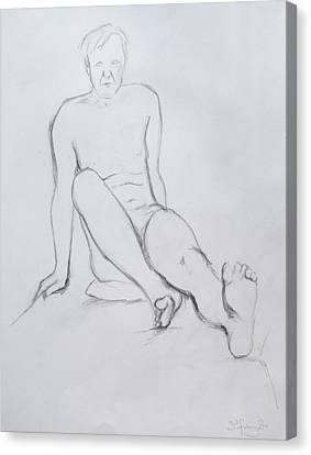 Pencil Sketch 2.2011 Canvas Print by Mira Cooke