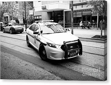 pennsylvania state trooper police cruiser vehicle Philadelphia USA Canvas Print