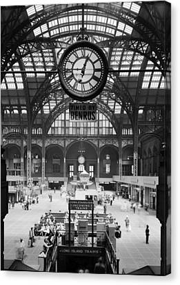 Entrances Canvas Print - Pennsylvania Station, Interior, New by Everett