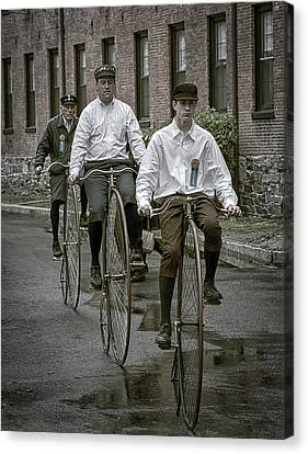 Penny Farthing Bikes Canvas Print by Rick Mosher