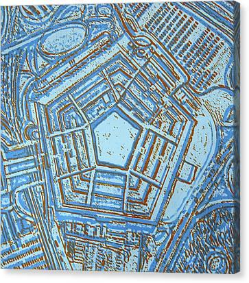 Pentagon Canvas Print by Toni Silber-Delerive
