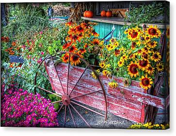 Penza's Red Barn  Canvas Print by John Loreaux
