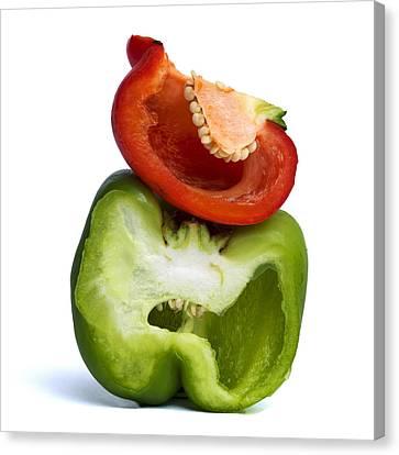 Peppers Canvas Print by Bernard Jaubert