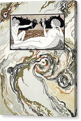 Personages De Comedie Canvas Print by Georges Barbier