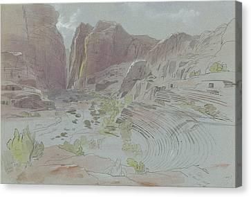 Petra Canvas Print - Petra, April 14, 1858 by Edward Lear