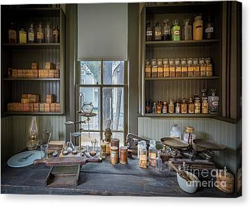 Pharmacist Desk Canvas Print