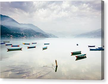 Phewa Lake In Pokhara, Nepal Canvas Print