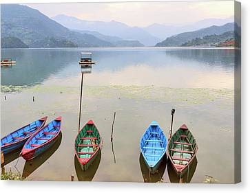 Phewa Lake, Pokhara Canvas Print by Mds0