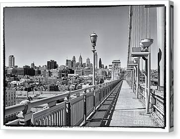 Philadelphia From Ben Franklin Bridge 3 Canvas Print by Jack Paolini