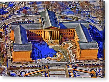 Philadelphia Museum Of Art 26th Street And Benjamin Franklin Parkway Philadelphia Pennsylvania 19130 Canvas Print