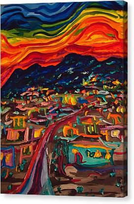Phoenix Setting Canvas Print by Ira Stark