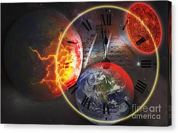 Mayan Mythology Canvas Print - Photo Illustration Of The End by George Mattei