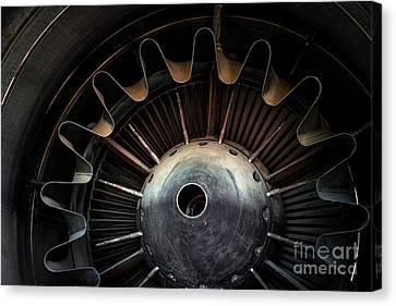 Photo Of A Jet Engine Canvas Print by Anna Vaczi