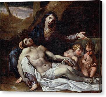 Pieta Canvas Print by Annibale Carracci