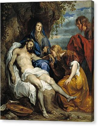 Pieta Canvas Print by Anthony van Dyck
