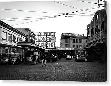 Pacific Northwest Canvas Print - Pike Place Market by Tanya Harrison