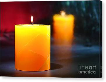 Pillar Candle Canvas Print by Olivier Le Queinec