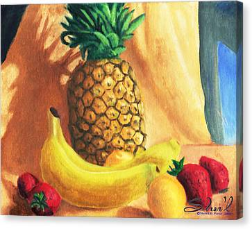 Pineapple Delight Canvas Print by Sherl