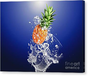 Pineapple Splash Canvas Print