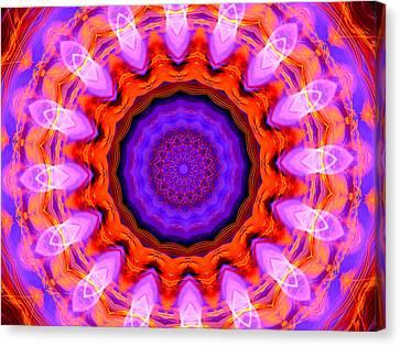 Pink 16-petals Kaleidoscope Canvas Print