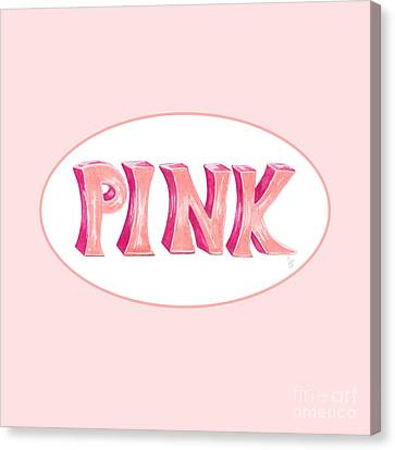 Canvas Print featuring the drawing Pink by Cindy Garber Iverson
