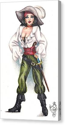 Pirate Girl Canvas Print by Scarlett Royal
