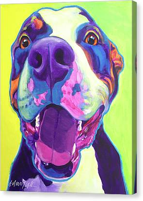 Pit Bull - Mayhem Canvas Print by Alicia VanNoy Call