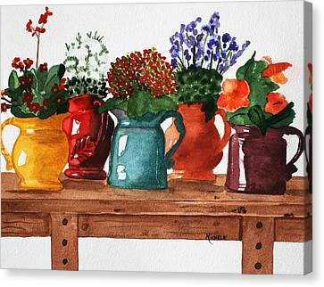 Pitchers In Bloom Canvas Print
