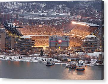 Steelers Canvas Print - Pittsburgh 4 by Emmanuel Panagiotakis