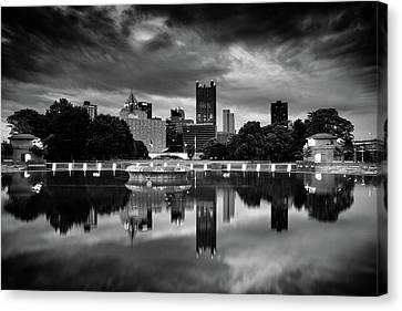 Upmc Canvas Print - Pittsburgh  Reflections  by Emmanuel Panagiotakis