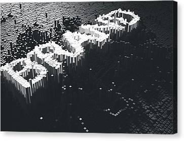 Pixel Brand Concept Canvas Print by Allan Swart