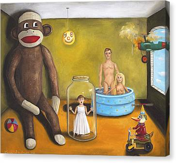 Playroom Nightmare 2 Canvas Print by Leah Saulnier The Painting Maniac